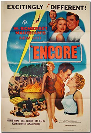 [Original Studio One-Sheet Poster for US Release of:] ENCORE
