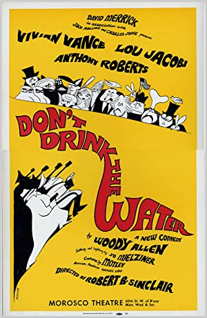 [Theatre Window Card Poster for:] DON'T DRINK THE WATER