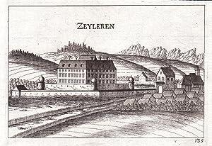 """Zeyleren"""" - Schloss Zeillern Ansicht Amstetten Kupferstich antique print: Vischer, Georg ..."""