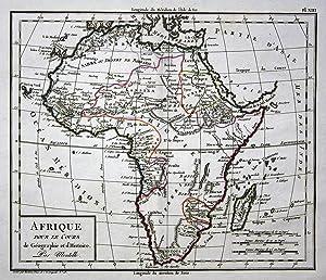 "Afrique"" - Afrika Africa Madagaskar Madagascar Egypt Ägypten Karte map Mentelle: Mentelle, Edme:"