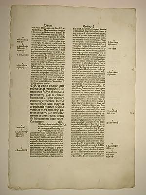 Biblia, lat. (GW 4242, HC 3079). Blatt,