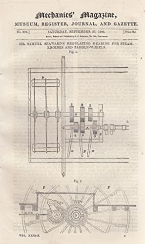 Mr. Samuel Seaward's Regulating Gearing For Steam-Engines