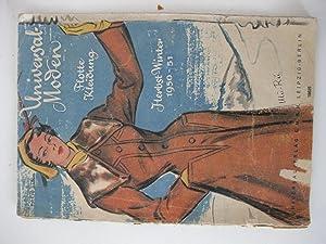 Universal Moden Flotte Kleidung Herbst - Winter 1950-51: Universalverlag Leipzig