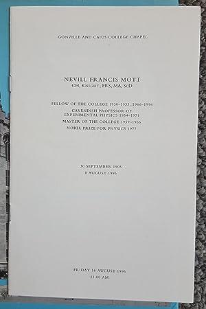 A Life in Science. (Signed by Nevill Mott.): MOTT, Nevill (1905-1996):
