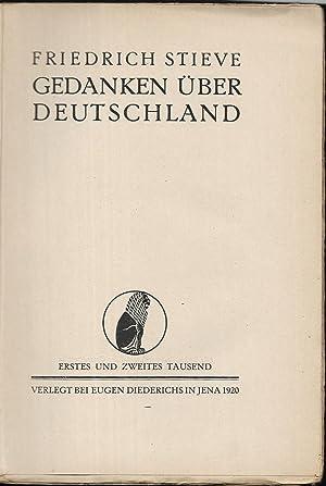Gedanken über Deutschland.: STIVE, Friedrich: