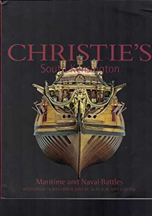 Christie's South Kensington - Maritime and Naval Battles Auction Catalogue - 19 November 2003