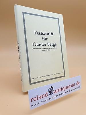 Festschrift für Günter Berge, Präsident des Verwaltungsgerichts: Berge, Günter. -Kipp,