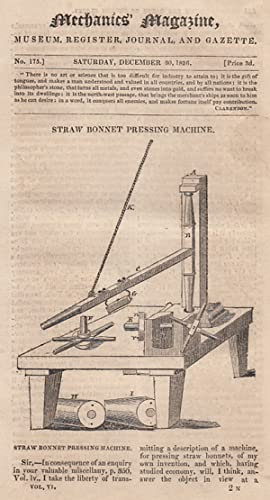 Straw Bonnet Pressing Machine; The Rates Of