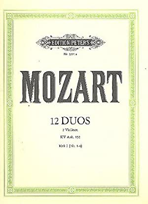 12 Duos KV Anh.152 Band 1 (Nr.1-4)für: Wolfgang Amadeus Mozart