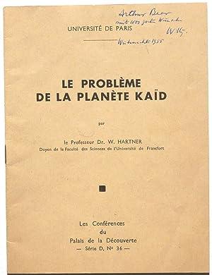 Le problème de la planète Kaid.: Hartner, Willy