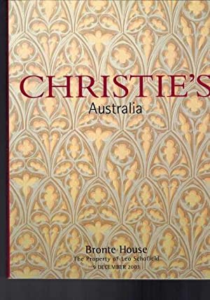Christie's Australia Auction Catologue - Bronte House - Property of Leo Schofield