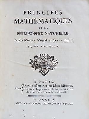 PRINCIPES Mathématiques de la Philosophie Naturelle: NEWTON, Isaac.