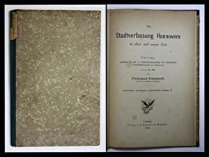 Die Stadtverfassung Hannovers in alter und neuer Zeit: Frensdorff, Ferdinand: