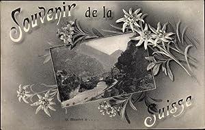 Passepartout Ansichtskarte / Postkarte Saint Maurice Kt.