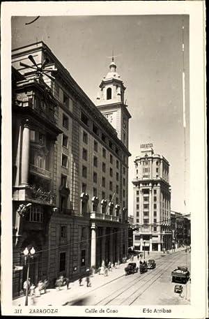 Ansichtskarte / Postkarte Zaragoza Saragossa Andalusien, Calle