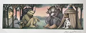 SIGNED ORIGINAL POSTER, WHERE THE WILD THINGS: MAURICE SENDAK