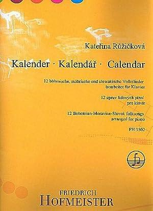 Kalender - 12 tschechische, mährische und slowakische: Katerina Ruzicková
