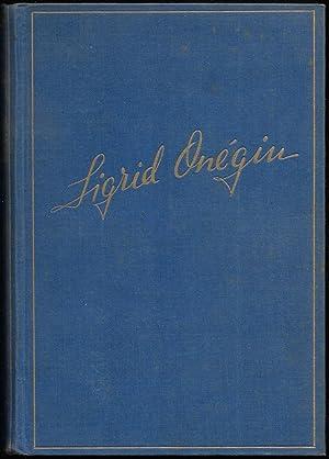 Sigrid Onégin.: SIGRID ONÉGIN ] - Penzoldt, Fritz (Hrsg.):