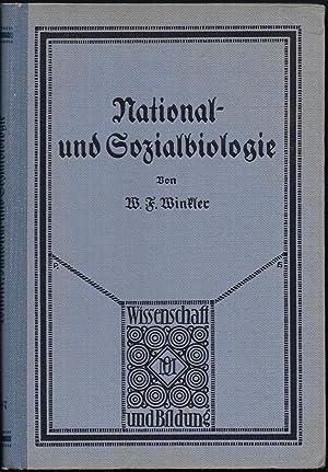 National- und Sozialbiologie.: WINKLER, W.F.: