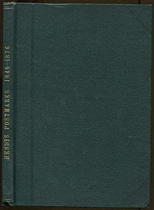 The history of the postmarks of the: HENDY John G.