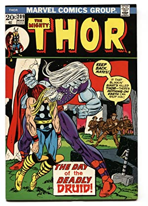 THOR #209 1st appearance Ultimus the Demon Druid Marvel VF