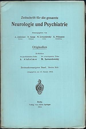 Zeitschrift für die gesamte Neurologie und Psychiatrie. Originalien. 22.Band - Hefte 1 und 2.: ...