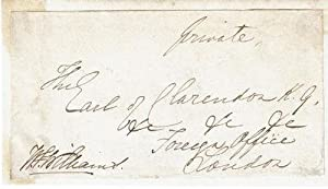 FRANKING SIGNATURE OF GENERAL SIR WILLIAM FENWICK WILLIAMS,1ST BARONET OF KARS, MILITARY LEADER ...