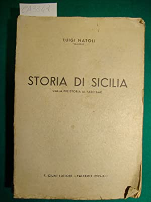 Storia di Sicilia - Dalla preistoria al: D'Arrigo Agatino