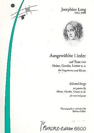 Ausgewählte Lieder für Gesang und Klavier: Josephine Lang