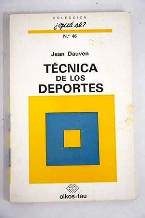 Técnica de los deportes: Dauven, Jean