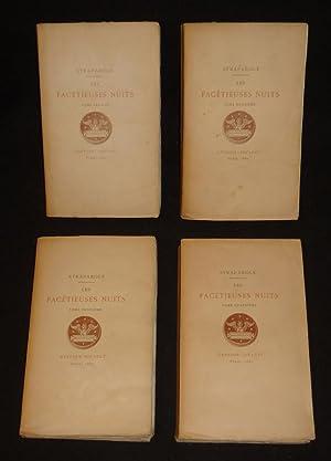 Les Facétieuses nuits (4 volumes): Straparole Jean François