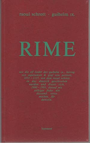 Rime: Schrott, Raoul / Guihelm IX.