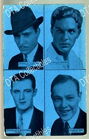 FRANCIS BUSHMAN/CHARLES RAY-4 IN 1-1920-ARCADE CARD G