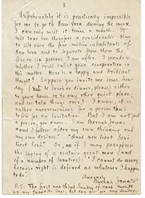AUTOGRAPH LETTER SIGNED by the author, literary philosopher & Edison's research assistant ...