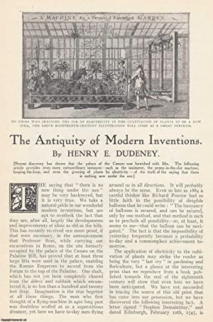 The Antiquity of Modern Inventions. An original article from the Strand Magazine, 1913.