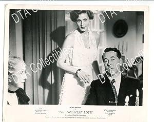 THE GREATEST LOVE-8X10-PROMO STILL-1953-DRAMA VG/FN