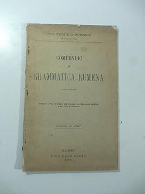 Compendio di grammatica rumena: Virgilio Popescu