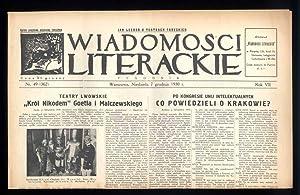 Wiadomosci Literackie. Tygodnik. R.7 (1930). Nr 49