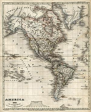 "Stahlstich- Karte, v. David b. B.I., ""America ."".: Amerika ( The Americas ):"