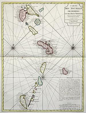 "Kupferstich- Karte, n. Petit v. G. de I'Isle bei Covens und Mortier, ""Carte des Antilles ..."