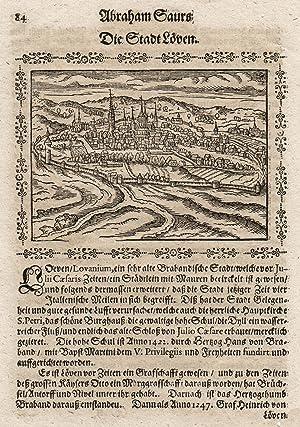 """Gesamtansicht, """"Die Stadt Löven"""".: Löwen ( Louvain / Leuven ):"""