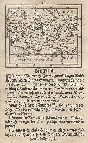"Kupferstich- Karte, bei Joh. Ulrich Müller in Ulm,""Nigritia."".: Westafrika ( West Africa ):"