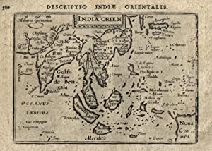 "Kst.- Karte, aus Langenes/ Bertius ""Caert Thresoor"" bei Nicolai in Amsterdam, ""India ..."