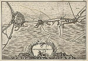 """Befestigungsgrundriß, """"Plan des Attaques d' Hulst en 1747"""".: Hulst/Zeeland:"""