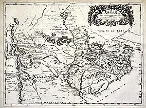 """Kst.- Karte, n. G. Sanson b. Mariette, """"Le Paraguay . 1668"""".: Paraguay - Argentinien - ..."""