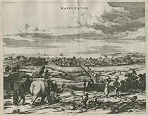 """GA über den Fluss, """" Masulipatnam """" ( Bandar ).: Indien ( India ): Machilipatnam:"""
