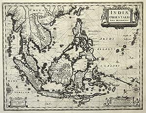 "Kst.- Karte, v. J. Janssonius, ""Indiae Orientalis nova decriptio"".: Südostasien ( East ..."