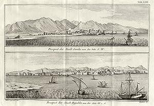 """Zwei Ansichten, """"Prospect der Stadt Iambo"""" und """"Prospect der Stadt Dsjidda."""".: ..."""