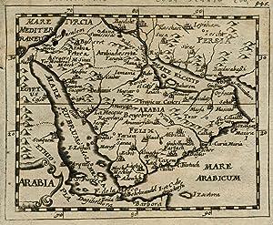 """Kst.- Karte, aus Duval / Hoffmann, """"Arabia"""".: Saudiarabien ( Arabia ):"""
