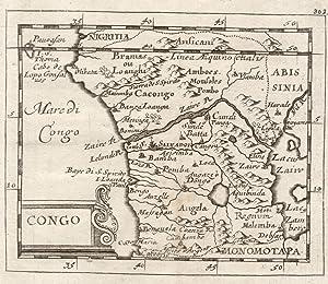 "Kst.- Karte, aus Duval / Hoffmann, ""Congo"".: Kongo ( Zaire / Congo ) und Angola:"
